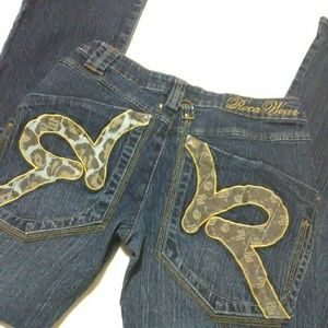 🎆4/$20 Roca Wear Bootcut Jeans with Design